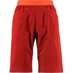 La Sportiva Flatanger Miehet Lyhyet housut , oranssi/punainen